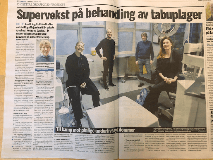 Ledende på urologi i Scandinavia