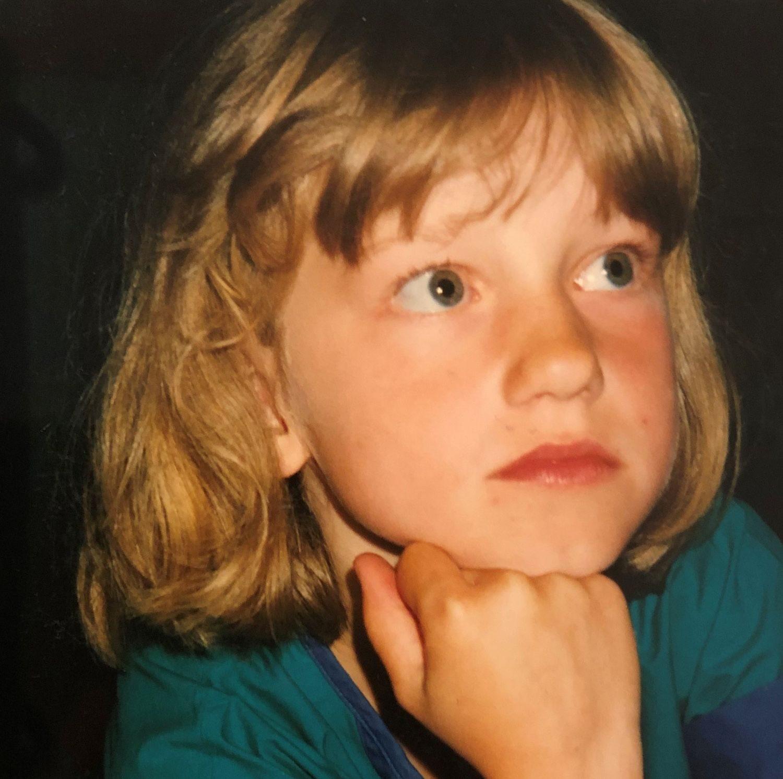 Maria Solheim som barn