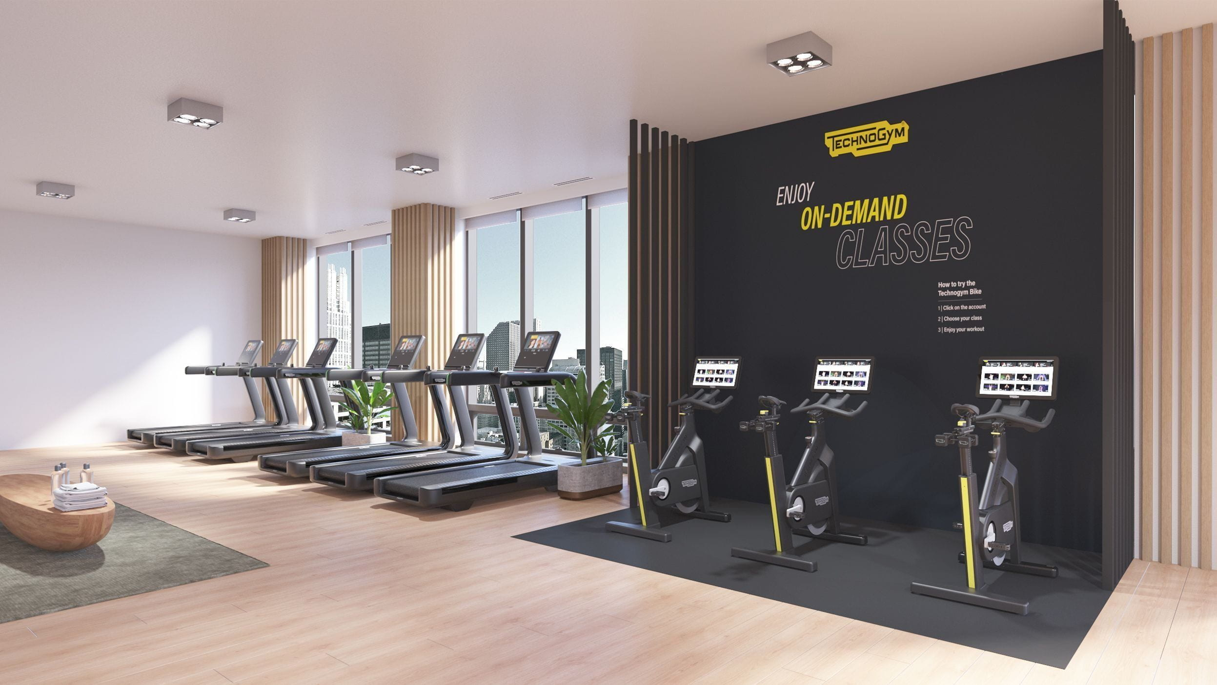 Technogym bike på treningssenter