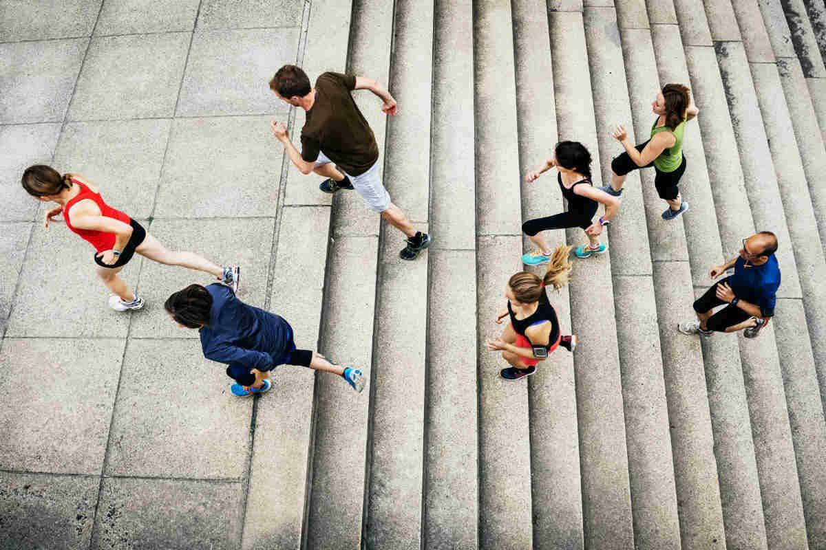 trappeløp aktivitete who qicraft technogym