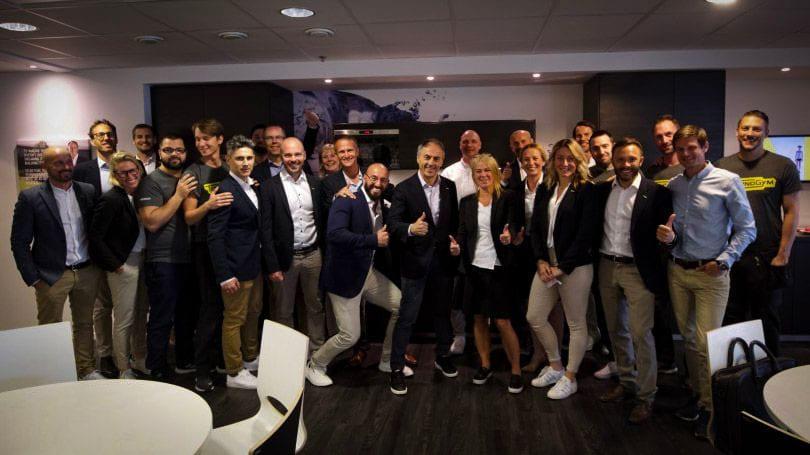 Technogyms grundare Nerio Alessandri på besök i Sverige för första gången