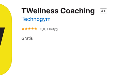 Ny träningsapp från Technogym – TWellness Coaching