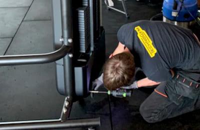 Underhåll av träningsutrustning från Technogym