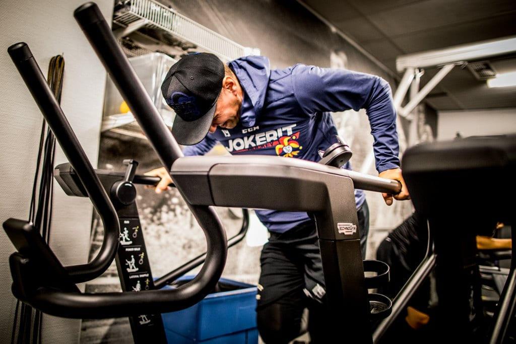 KHL-spelaren fokuserade på fysträning under sin rehabilitering