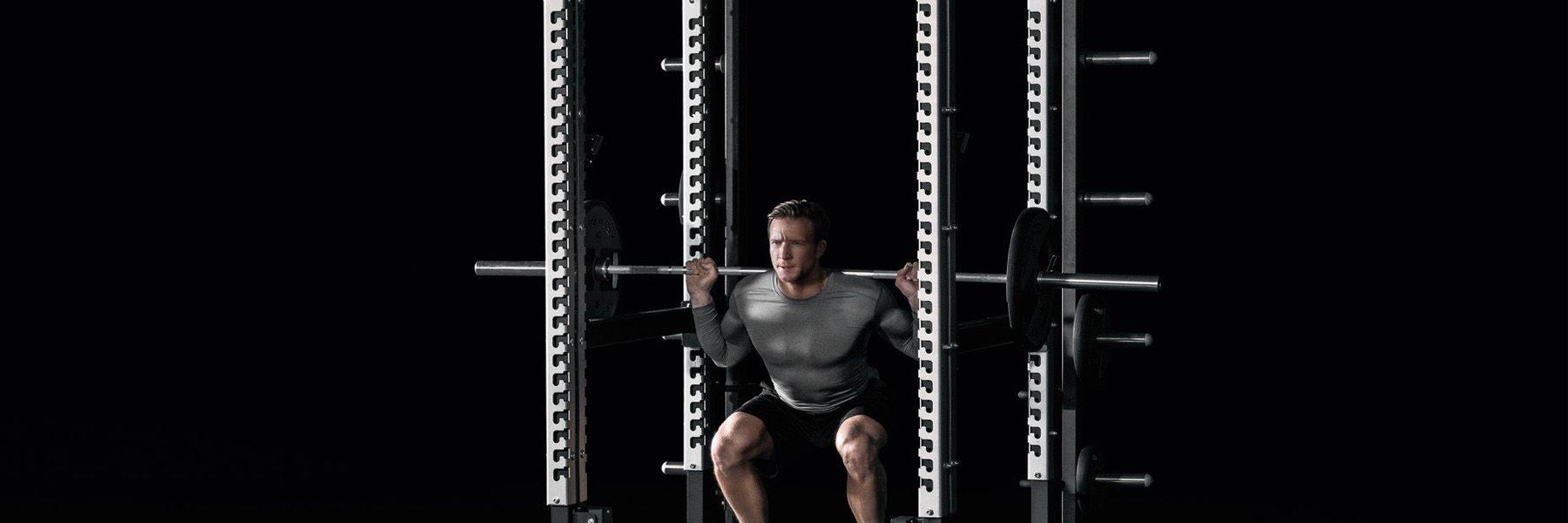 kyykkyteline technogym olympic rack