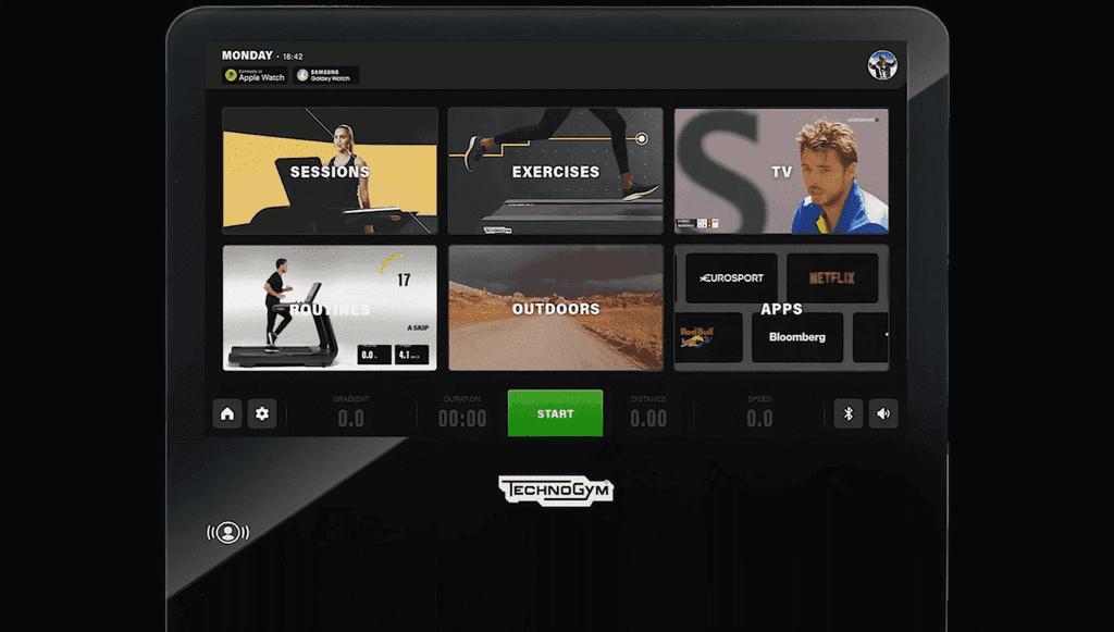 Technogym Live screen