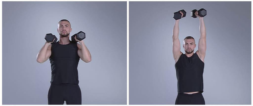 käsivarret kesäkuntoon treeni shoulder press