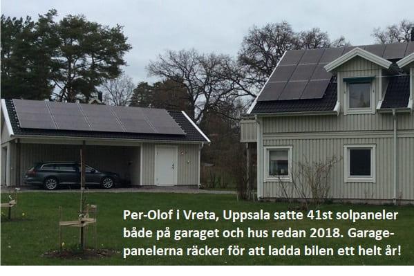 Grön ROT för solpaneler och elbilsladdning populärt!