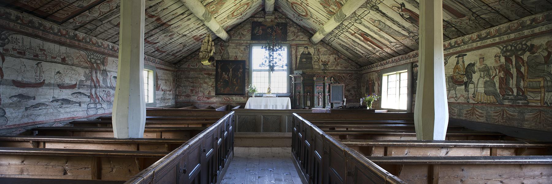 Ulvö kapell interiör