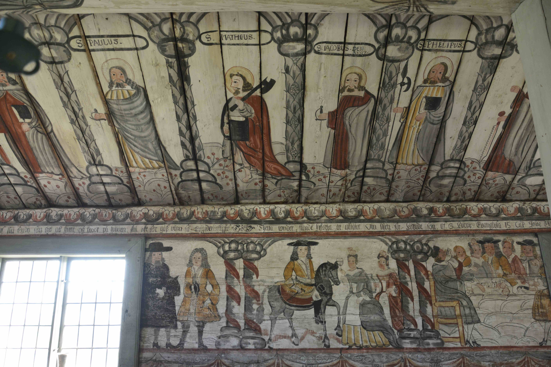 vägg- och takmålningar